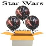 Star Wars Luftballons mit Helium, Kindergeburtstag Geschenke, 3 Stück