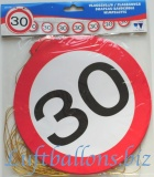 Geburtstag-Dekoration, Flaggenbanner, 30. Geburtstag
