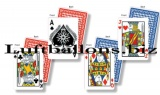 Casino Party- und Festdekoration, Spielkarten Cutouts, 4 Stück