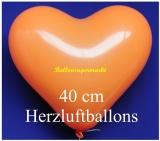 Orangene Herzluftballons, 40 cm, 10 Stück