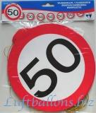 Geburtstag-Dekoration, Flaggenbanner, 50. Geburtstag