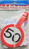 Geburtstag-Dekoration, Girlande mit hängenden Zahlenschildern, 50. Geburtstag