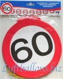Geburtstag-Dekoration, Flaggenbanner, 60. Geburtstag