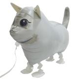 Katze, weiß, Airwalker Tier-Luftballon