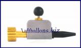 Aufblasventil, Helium Ballongas, für Latex-Luftballons und Folienballons, mit Gummispitze und Druckknopf