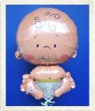 Luftballon zur Geburt, Baby, mit Helium aus Folie