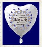 Babyparty Luftballon, mit Helium aus Folie
