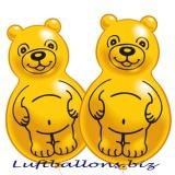 Latex-Bären-Luftballons, 2 Stück