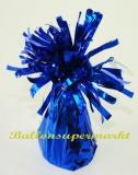 Ballongewicht, Folie, Blau, Gewicht für Luftballons mit Helium