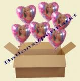 Barbie Luftballons mit Helium, Kindergeburtstag Geschenke, 6 Stück