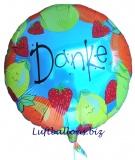 Danke, Luftballon aus Folie mit Helium