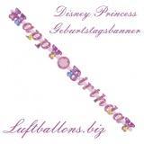 Letter Banner Geburtstag, Happy Birthday Disney Princess Geburtstagsgirlande mit Zahlen