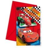 Einladungskarten mit Umschlag, Cars, 6 Stück