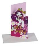 Einladungskarten mit Umschlag Filly, 6 Stück