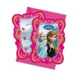 Einladungskarten mit Umschlag Die Eiskönigin, 6 Stück