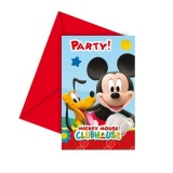 Einladungskarten mit Umschlag, Micky Maus, Kindergeburtstag