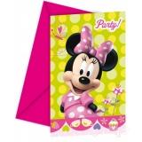 Einladungskarten mit Umschlag, Minni Maus, Kindergeburtstag