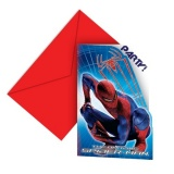 Einladungskarten mit Umschlag, Spider-Man