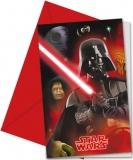 Einladungskarten mit Umschlag Star Wars, 6 Stück