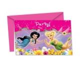 Einladungskarten mit Umschlag, Tinkerbell, 6 Stück