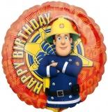 Feuerwehrmann Sam, Happy Birthday, Luftballon mit Helium, Kindergeburtstag u. Geschenk