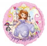 Sofia die Erste, Happy birthday Luftballon mit Helium, Kindergeburtstag u. Geschenk