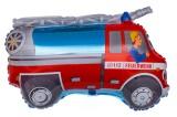 Feuerwehrauto Luftballon mit Helium, Kindergeburtstag u. Geschenk