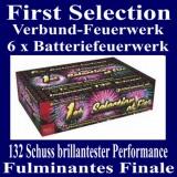 Feuerwerk, Batteriefeuerwerk First Selection, 6er Batterie-Verbund