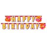 Geburtstag-Dekoration, Letter Banner mit Blumen, Happy Birthday