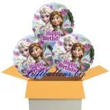 Eiskönigin, Happy Birthday, Rundluftballons mit Helium, Kindergeburtstag Geschenke, 3 Stück