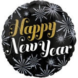 Holografischer Luftballon zu Silvester, Happy New Year Energy