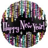 Holografischer Luftballon zu Silvester, Happy New Year Pizzaazz