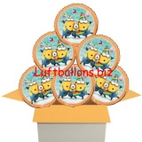 Minion Party Rundluftballons mit Helium, Kindergeburtstag Geschenke, 6 Stück