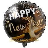 Luftballon zu Silvester, Happy New Year Champagner