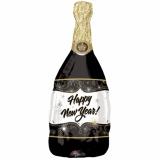 Luftballon zu Silvester, Happy New Year Champagnerflasche