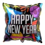 Luftballon zu Silvester, Happy New Year Kissen
