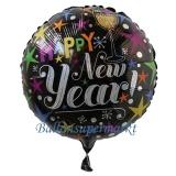 Holografischer Luftballon zu Silvester, Happy New Year Celebrate