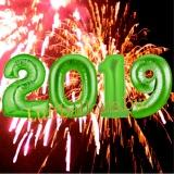 Luftballon-Set zu Silvester, große Zahlen, 2019, Grün