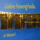Silvesterdekoration goldene Fransengirlande, Partydekoration zur Silvesterfeier