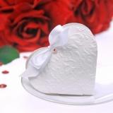 Geschenkbox zur Hochzeit, Herz in Rot mit Ornamenten, Hochzeitsdeko, Gastgeschenk