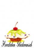 Grußkarte Kindergeburtstag, Geburtstag Herzlichen Glückwunsch