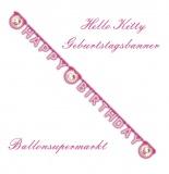 Geburtstagsgirlande, Hello Kitty, Girlande Kindergeburtstag