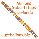 Geburtstagsgirlande, Minions, Happy Birthday