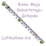 Geburtstagsgirlande Biene Maja, Happy Birthday