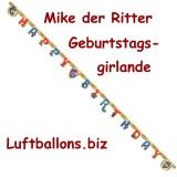 Geburtstagsgirlande Mike der Ritter, Girlande Kindergeburtstag