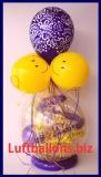 Geschenkballon, Luftballon zum Verpacken von Geschenken, Happy Birthday, Smiley