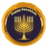 Goldener Hanukkah-Luftballon aus Folie mit Helium