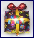 Happy Birthday Geschenk, Folien-Luftballon mit Helium zum Geburtstag
