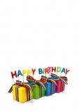 Grußkarte Geburtstag, Happy Birthday