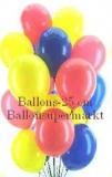 Helium-Luftballons, Rundballons in 25-28 cm, 50 Stück